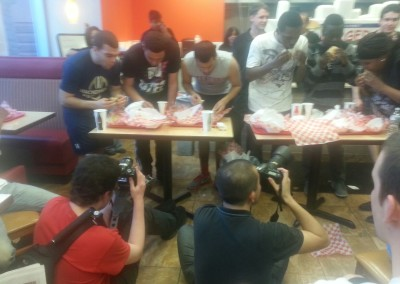 Burger contest with media attention
